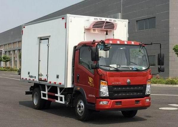 豪沃4.1米冷藏车